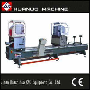 China aluminum double head cutting saw / aluminium doors window manufacturing machine on sale