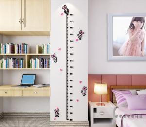 China 3d rabbit acrylic  sticker kids nursery Height measurement wall Sticker growth chart home sticker on sale