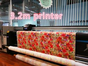 China one step digital textile printing machine 3.2 meter flags printers fixation machine on sale
