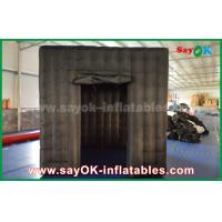 China 2 Doors Inflatable Photo Booth With LED Light Oxford Cloth 2.5m  Black on sale