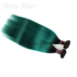 China Dark Root Green Brazilian Virgin Remy Human Hair / Silky Straight Hair Weave on sale