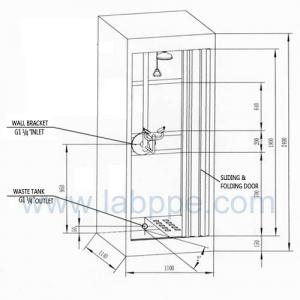 Quality SH786A-Emergency shower & eyewash booth,stainless steel with water/waste tank for sale