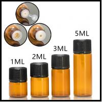 Mini Size Essential Oil Glass Bottles Normal Cap For Serum / Perfume 1ml 2ml 3ml 5ml
