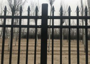 China Pressed Punched Steel Fence Panels Commercial / Industrial Security Fencing on sale