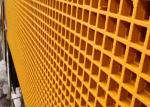 ABS Yellow Fibergrate Molded Grating 38mm*38mm Durable Appearance