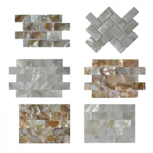 China Contemporary Unique 3D Shell Mosaic Tile Patio Table Mosaic 2mm Thickness on sale