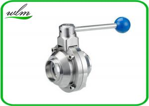 China High Sanitary Ball Valves , Stainless Steel Butterfly Valve For Beverage Industry on sale