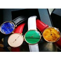 Multi Color Luxury Stone Craft , High End Quartz Watch With Marble Dial