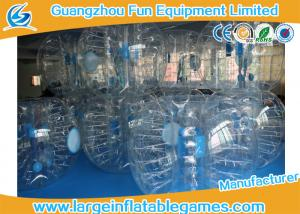 China Clear 1.2m / 1.5m Inflatable Human Ball Bumper Zorb Football With 0.7mm TPU on sale