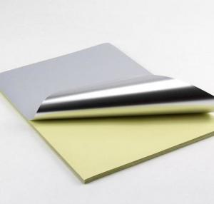 China Customized Blank Gloss Silver A4 Self Adhesive Aluminum Foil Label on sale