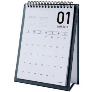 China Table Monthly Easel Desk Calendar Sticky Notes For Weekly / Daily Planner on sale