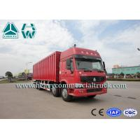 ZZ1317 Energy Saving Lorry Truck With Insulated Van , Refrigerating Installation