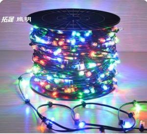 China 100m led string lights outdoor crystal clip copper fairy lights 666 led 12v rgb xmas light on sale