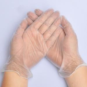 China Clean Room Disposable PVC Protection Glove/ 9L Industrial Clear Vinyl Glove on sale