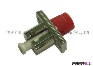 China Metal Body Hybrid Optical Fiber Adapter LC/PC To FC/PC With Flange For Installation on sale
