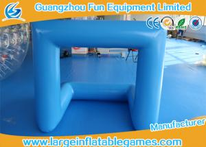 China Outdoor Inflatable Sport Games Inflatable Football Soccer Goal 0.6 / 0.9mm PVC on sale
