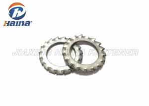 China Bright Plated External Tooth Lock Washer , Stainless Steel Lock Washers For Machines on sale