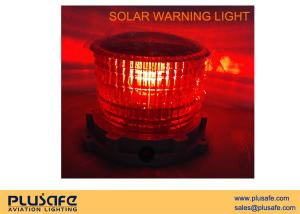 China SL10 Battery Operated Solar Obstruction Light Steady Burning Color For Aviation on sale