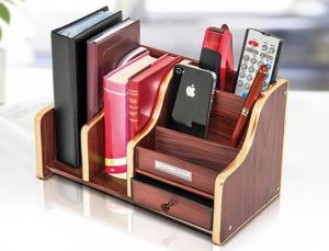 Quality ODM Stable Durable Plastic Office Pen Holder Design With Wood  Pattern For Sale ...