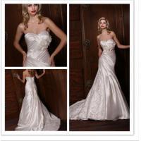 Empire Waist Pleated Simple Elegant Wedding Dresses of Wipes Bosom