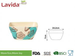 China Heavy Metal Free Bamboo Mixing Bowls Custom Printing Tasteless Safe Contact With Food on sale