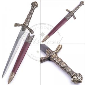 China King Richard Historical Dagger Medieval England Theme Mirror Finished Blade on sale