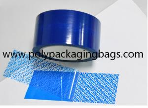 China Blue PET Tamper Evident Security Tape For Carton Sealing on sale