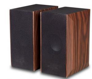 China 240V AC Powered Wood Computer Speakers Brown BookshelfStereo Speaker on sale
