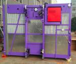 Purple Color Construction Hoist Elevator