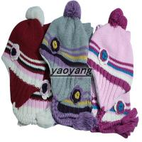 beautiful style and high quality girls acrylic knitted hats FH048