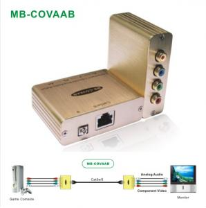 China Component Video/Analog Audio Transmission Over Cat5e/6 on sale