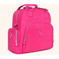 China Polyester Cute Baby Diaper Backpack  Rose Color Eco Friendly Advantage on sale