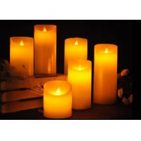 Real Wax Material Flameless LED Candles With Remote Control Flickering Tea Lights