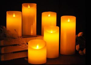 China Real Wax Material Flameless LED Candles With Remote Control Flickering Tea Lights on sale