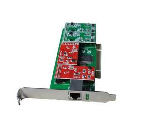 China New arrival pci card for TDM410P with 4 single fxo/fxs asterisk telephony card on sale