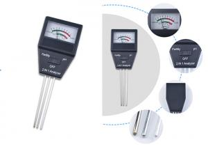 China Plastic Farm Soil Testing Equipment 2 In 1 Fertility Tester With 3 Probes on sale