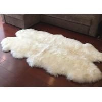 China Real Sheepskin Rug Large Ivory White Australia Wool Area Rug 4 x 6 ft 4 Pelt on sale