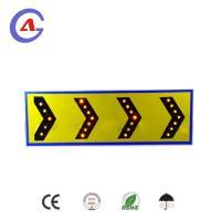 solar energy led chevron sign arrow direction board traffic flashing light