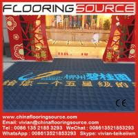 Heavy duty entrance logo mat EVA base nylon brush sweep dirt scrape snow drain rain water