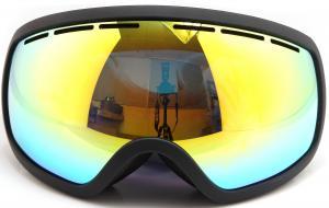 China Three Layer Foam Mirrored Ski Goggles Spherical Lens type / Ladies Snowboard Goggles on sale