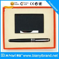 China Pen business gift set with Innovative business card holder on sale