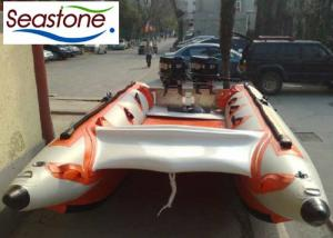 China ST-SGS450 Inflatable Sailing Catamaran Small Gas Outboard 7 Persons Capacity on sale