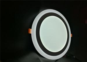 China Recessed  two color round LED panel light special for South America consumers on sale