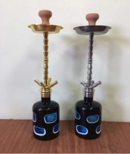 China Advanced Customization Zinc Alloy Hookah High Quality Four Smoking Water Pipes Shisha Nargile on sale