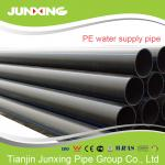 PE100 water supply black hdpe pipe for water with blue line 200mm