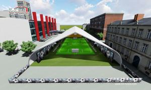China Waterproof Outdoor Event Tents / TFS Footabll Hall for Football and Soccer , Curved Sport Tents on sale