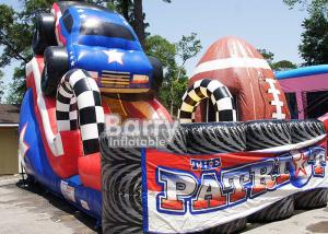 China Giant Colorful Children 18ft Patriot Monster Truck Inflatable Slide With CE Certificate on sale