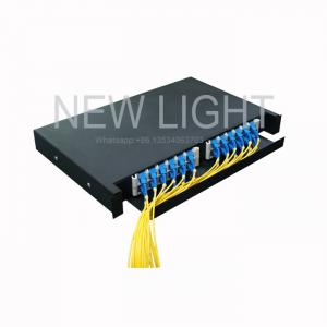 China 19'' / 23'' Rack Mounted Fiber Optic Patch Panel 12 / 24 Core Drawer Slidable on sale