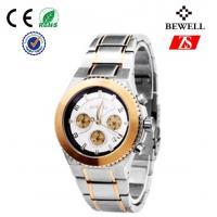 Bewell Japan Movt Quartz Watch / Stainless Steel Wrist Watches For Men
