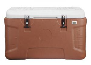 China Customized 110L Wheeled Outdoor Plastic Cooler Box Beer Food Fishing Bbq Thermos Ice Insulation on sale